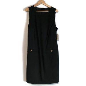 Eloquii Little Black Dress seamed dress size 16